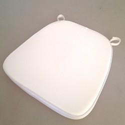 Galette de confort trapézoïdale blanche velcro