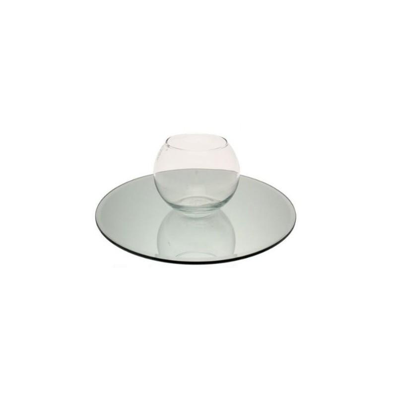 Miroir de table rond 30 cm sabannes r ception - Miroir rond 35 cm ...