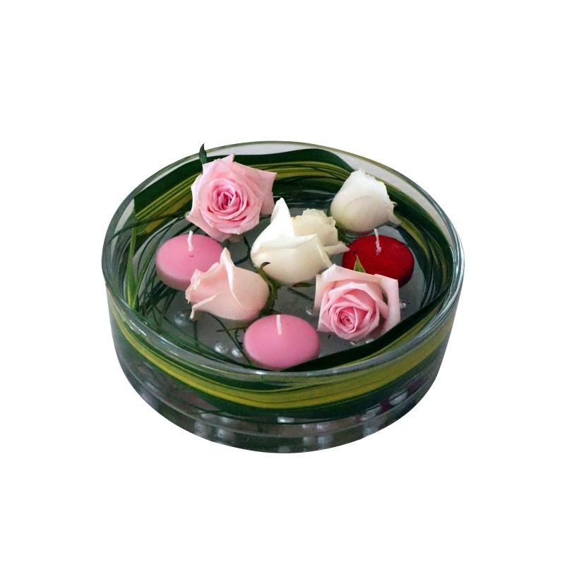 vase rond 30 cm sabannes r ception. Black Bedroom Furniture Sets. Home Design Ideas