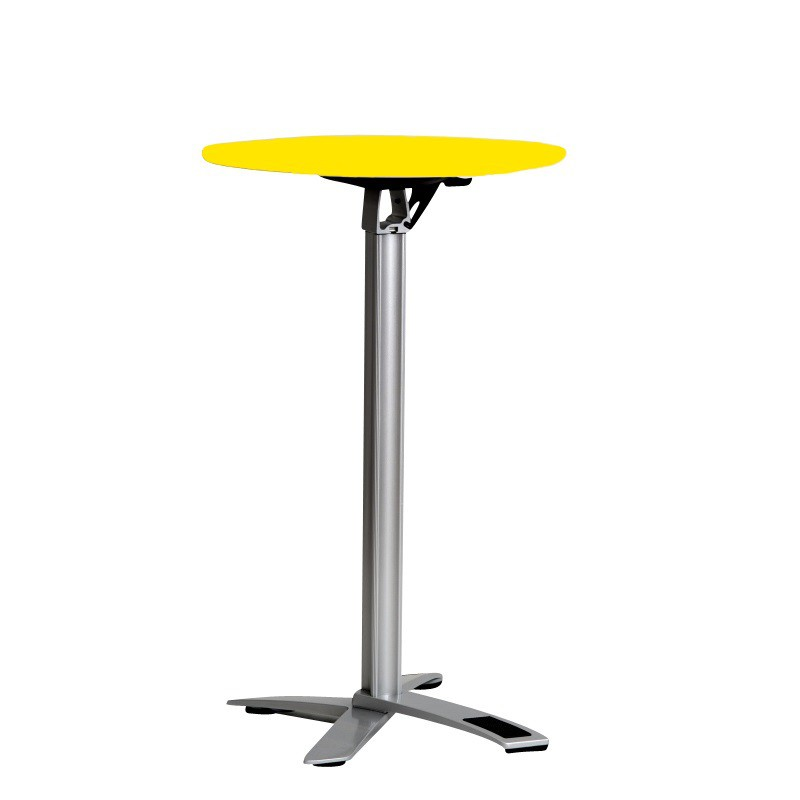Mange debout mercure blanc sabannes r ception - Table mange debout blanc laque ...