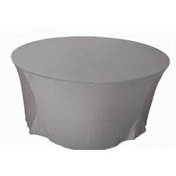 Nappe ronde LYCRA 152 cm gris perle