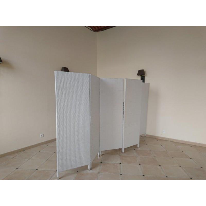 paravent hector blanc sabannes r ception. Black Bedroom Furniture Sets. Home Design Ideas