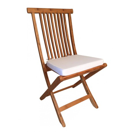 Chaise VEGANE galette blanche