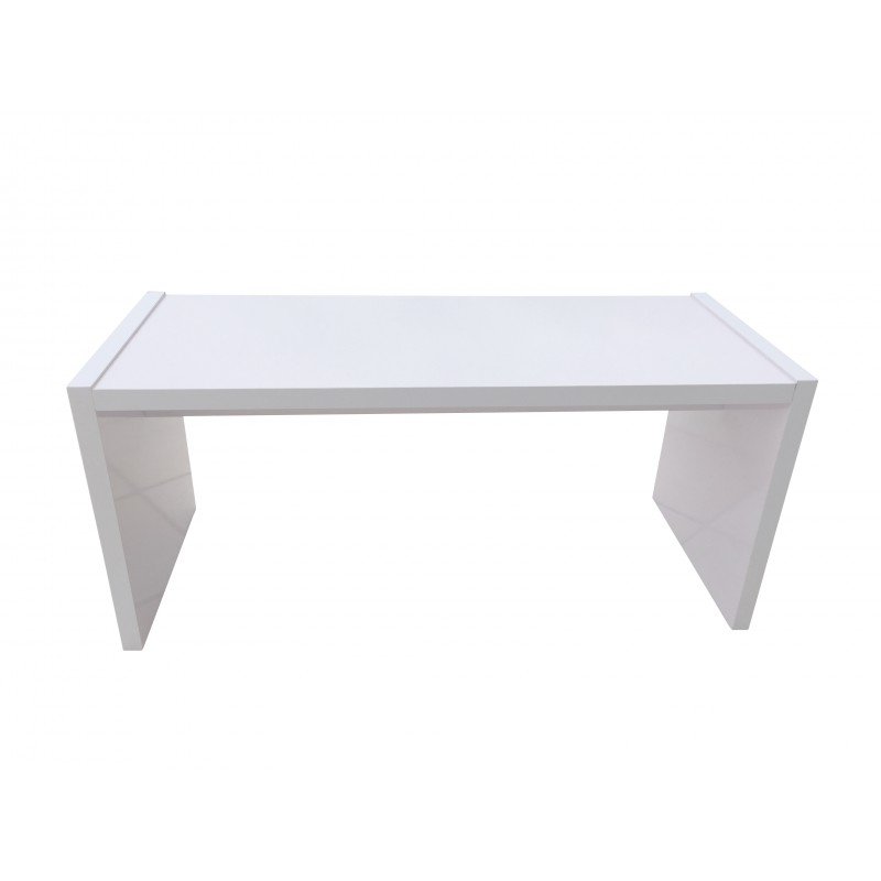 Table basse orion premium blanche rectangulaire sabannes r ception - Table basse blanche rectangulaire ...