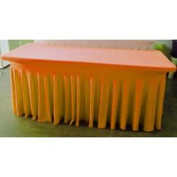 Nappage buffet lycra mandarine
