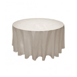 Nappage rond en polyester lin