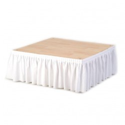 Skirting blanc plissé 2ml H 39 cm