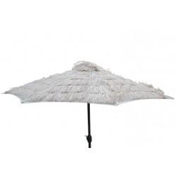 Parasol écru façon paille