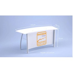 Desk bas Flamingo blanc