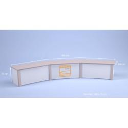 Desk bas Titanium 6 pers