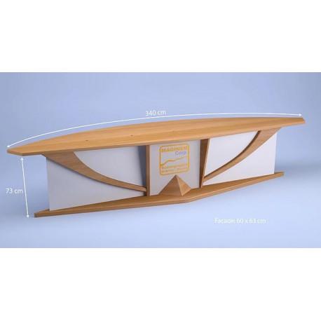 Desk Goeland 5 personnes