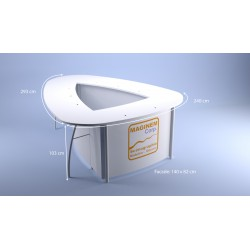 Desk haut Boomerang 3x3x2