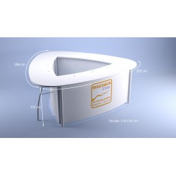 Desk haut Boomerang 3x3x3