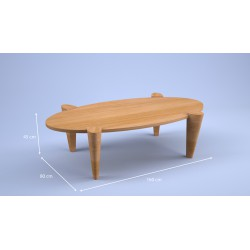 Table basse Pivert bois