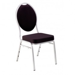Chaise tissu noir ORPHÉE