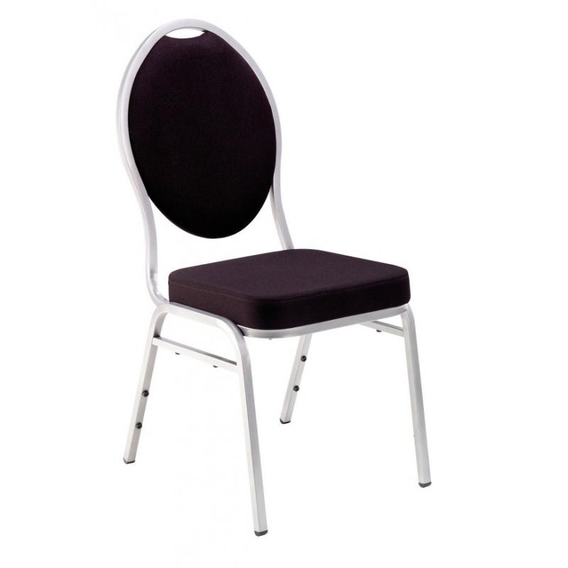 chaise tissu noir orph e sabannes r ception. Black Bedroom Furniture Sets. Home Design Ideas