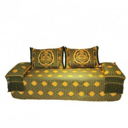 Banquette orientale THEMIS vert/or