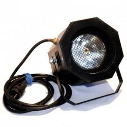Projecteur PAR 38 noir - boîte noire