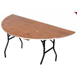Table DIANE 150 x 76 cm demi-ronde