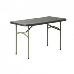 Table MINERVE gris foncé 122 x 61 cm