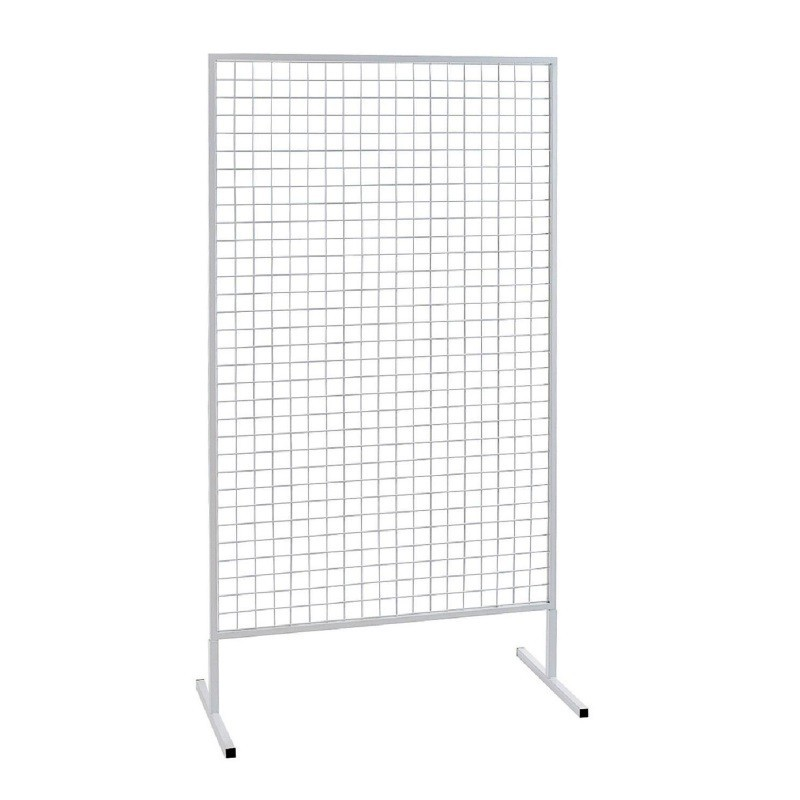 grille d 39 exposition blanche acier sabannes r ception. Black Bedroom Furniture Sets. Home Design Ideas