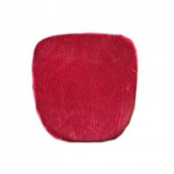 Housse de galette velours rouge