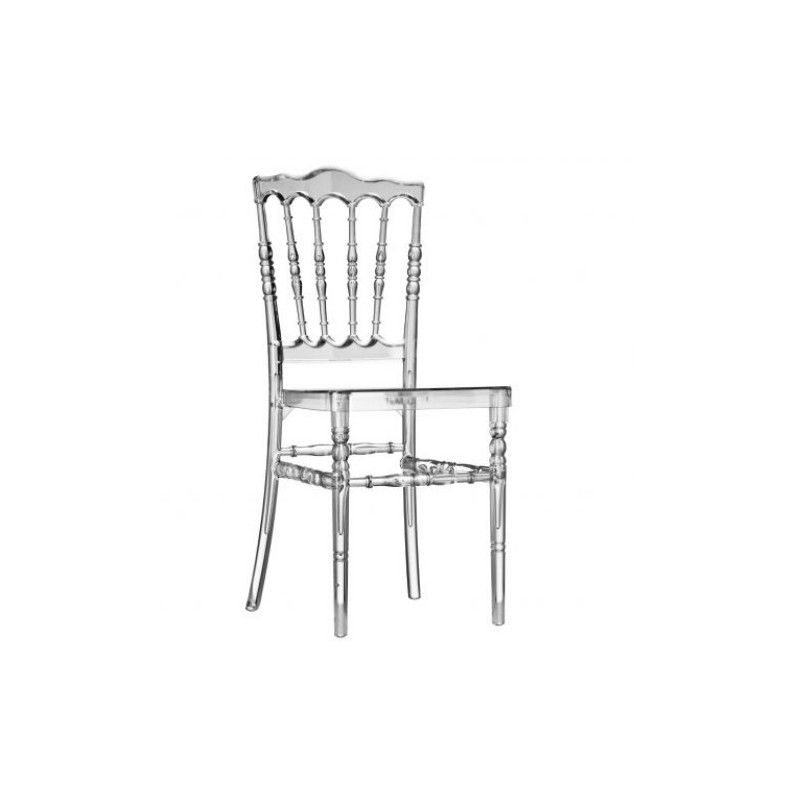 chaise zeus cristal sabannes r ception. Black Bedroom Furniture Sets. Home Design Ideas