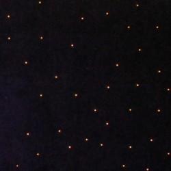 Rideau étoilé velours bleu 3 x 6 m