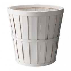 Cache-pot blanc en bois