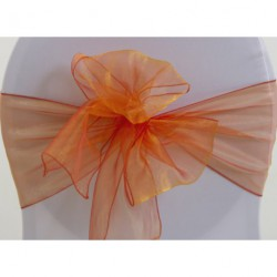 Noeud en organza orange safran