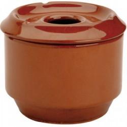 Cendrier brun en terre cuite