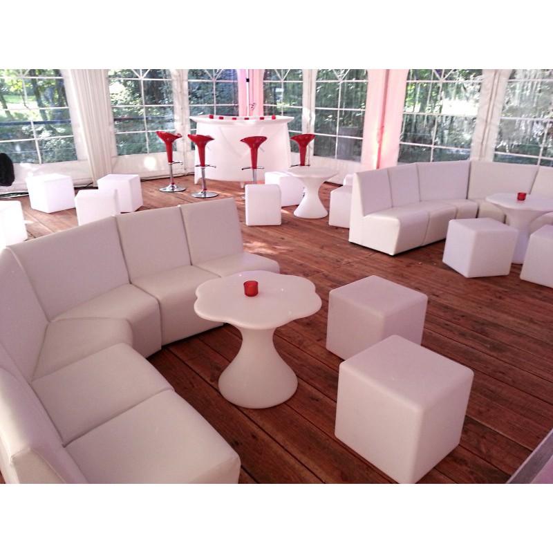banquette discoth que blanche sabannes r ception. Black Bedroom Furniture Sets. Home Design Ideas
