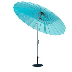 Parasol ombrelle turquoise