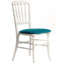 Chaise ZEUS blanc/turquoise