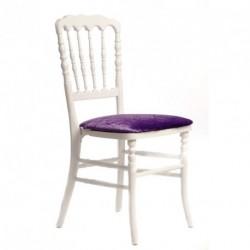 Chaise ZEUS blanc/mauve