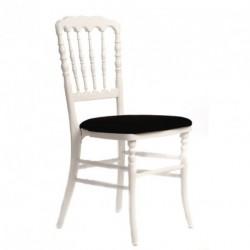 Chaise ZEUS blanc/noir