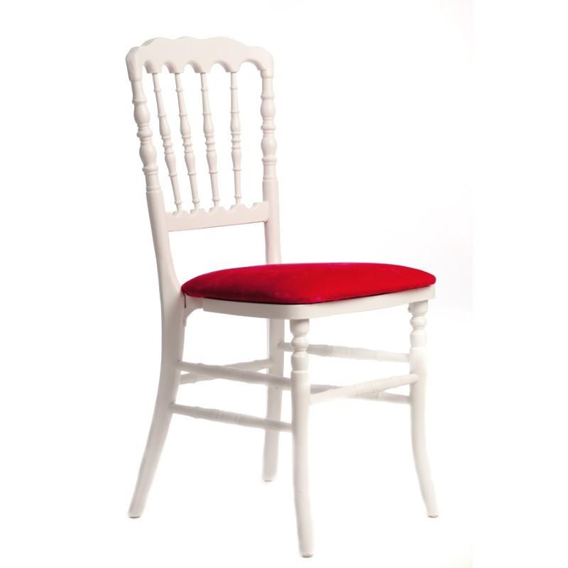 chaise zeus blanc rouge sabannes r ception. Black Bedroom Furniture Sets. Home Design Ideas