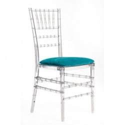 Chaise PENELOPE galette turquoise
