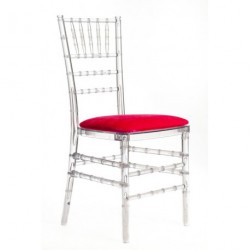 Chaise PENELOPE galette rouge