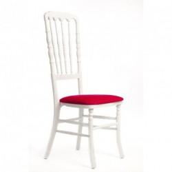 Chaise ZEUS géante blanc/rouge