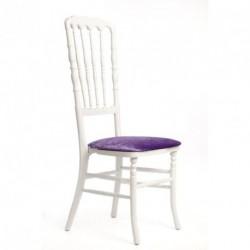 Chaise ZEUS géante blanc/mauve
