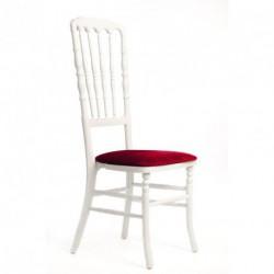 Chaise ZEUS géante blanc/bordeaux