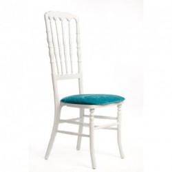Chaise ZEUS géante blanc/turquoise