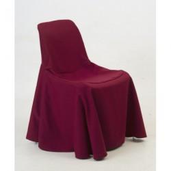 Housse de chaise coque bordeaux