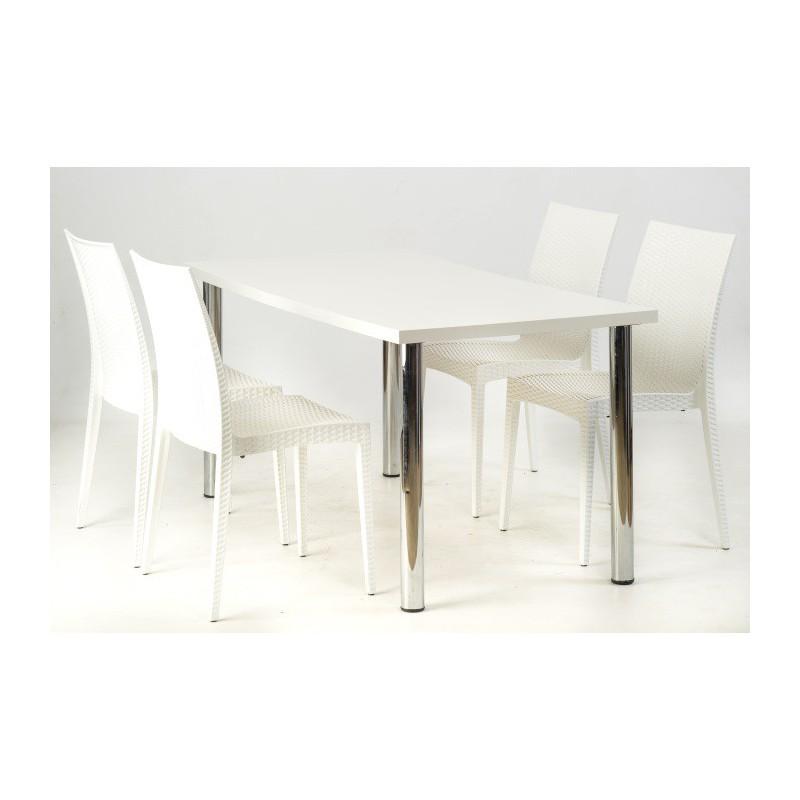 table rectangulaire thales blanche sabannes r ception. Black Bedroom Furniture Sets. Home Design Ideas