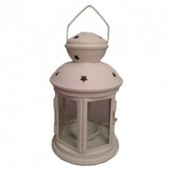 Lanterne blanche ajourée
