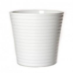 Pot céramique blanc
