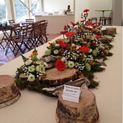 Chemins de tables fleuris