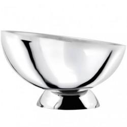 Vasque à champagne inclinée chromée